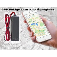 GPS Seklys išjungiantis variklį
