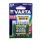 VARTA 2600mAh  įkraunamos baterijos