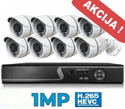 Vaizdo stebėjimo sistema 1MP - 8CH