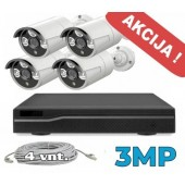 Vaizdo stebėjimo sistema -3MP PoE