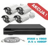 Vaizdo stebėjimo sistema -3-5MP PoE