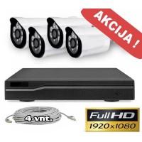 Vaizdo stebėjimo sistema -4IP-2MP
