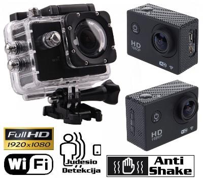 Veiksmo kamera Full HD 1080p