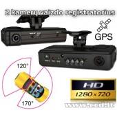 2 kamerų vaizdo registratorius
