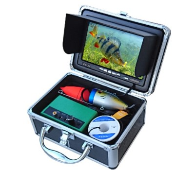 Povandeninė žvejo kamera su monitoriu