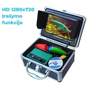 Povandeninė žvejo kamera su HD monitoriu