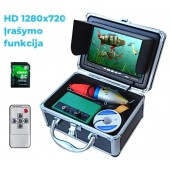 Povandeninė žvejo kamera su HD monitoriumi