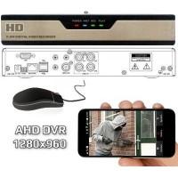 AHD vaizdo įrašymo įrenginys 4CH